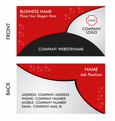 Business card for contact people vector