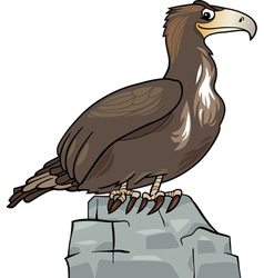 cartoon eagle wild bird vector image