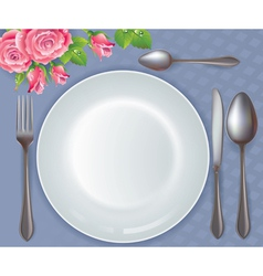 Celebratory tableware vector image vector image