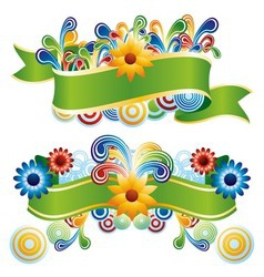 Creative floral banners vector
