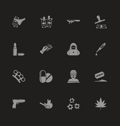 Crime - flat icons vector