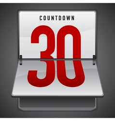 Dashboard countdown vector image