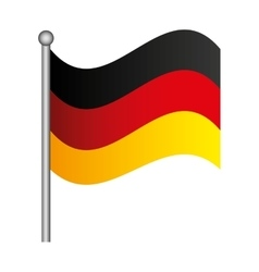 Flag germany isolated icon vector