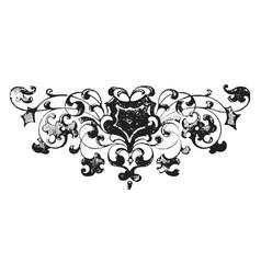 Floral footer is a very dark design vintage vector