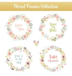 Floral frames with phrases vector image vector image