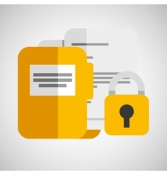Folder files padlock archive graphic vector