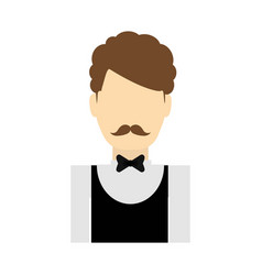 Hotel waiter icon vector