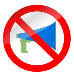 no propaganda and ban megaphone vector image