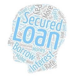 Please explain what a secured loan is text vector