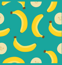seamless pattern with yellow bananas on a vector image vector image