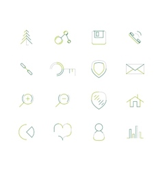 Set of thin line web icons vector image