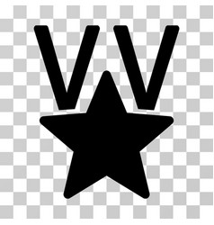 Star victory award icon vector