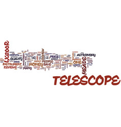 Telescope review of text background word cloud vector