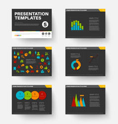 Template for presentation slides 5 vector