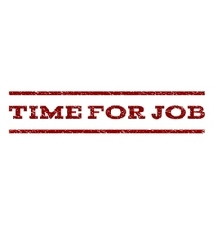 Time for job watermark stamp vector