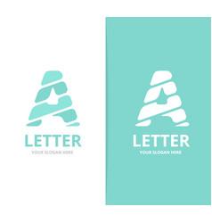 unique letter a logo design template vector image vector image