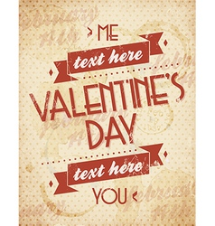 Valentines Vintage Background vector image vector image