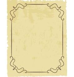 Vintage frame on beautiful background vector image
