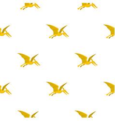 Yellow pterosaurs dinosaur pattern seamless vector