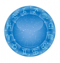 zodiac circle vector image vector image