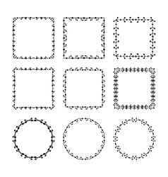 Set of hand drawn doodle decorative frames and vector