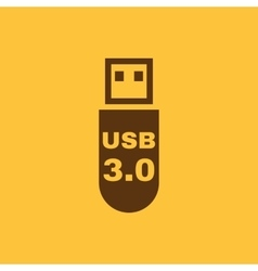 The usb icon transfer and connection data usb vector