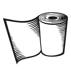 Roll of toilet paper vector