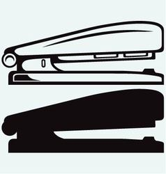 Metal stapler vector image