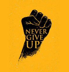 Never give up motivation poster concept creative vector