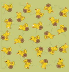seamless pattern with duck toy vector image