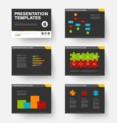 Template for presentation slides 6 vector