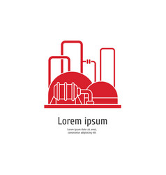 heavy industry power plant - red icon on white vector image