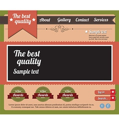 Website template elements vintage style vector