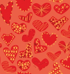 hearts pattern vector image