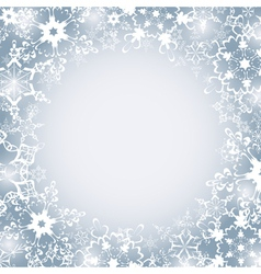 Winter seasonal frame with snowflakes vector