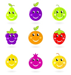Cartoon smiling fruit vector