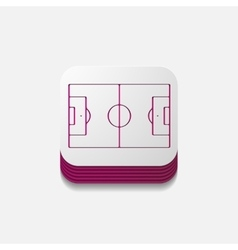 Square button playing field vector