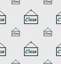 Close icon sign seamless pattern with geometric vector