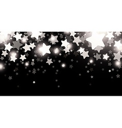 Black starry banner vector
