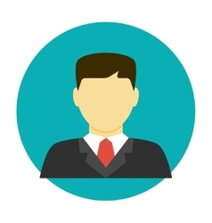 Lawyer avatar flat icon vector