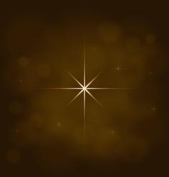 Abstract star magic light sky bubble blur gold vector