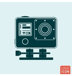 Action camera icon vector image vector image