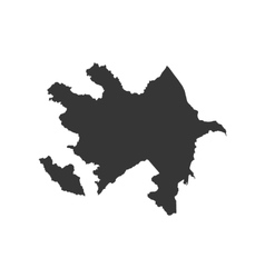 Azerbaijan map silhouette vector image vector image