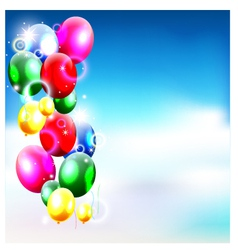 balloons in the sky for birthday background vector image vector image