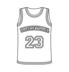 Basketball jerseybasketball single icon in vector