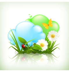 Chamomile and clouds vector image