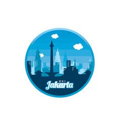 City of jakarta label badge sticker logo template vector