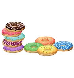 Doughnuts vector image vector image