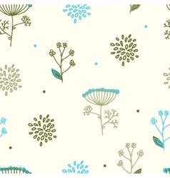 Elegance Seamless pattern with flowers Ukraine vector image