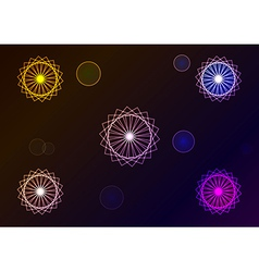 Geometric signs vector image